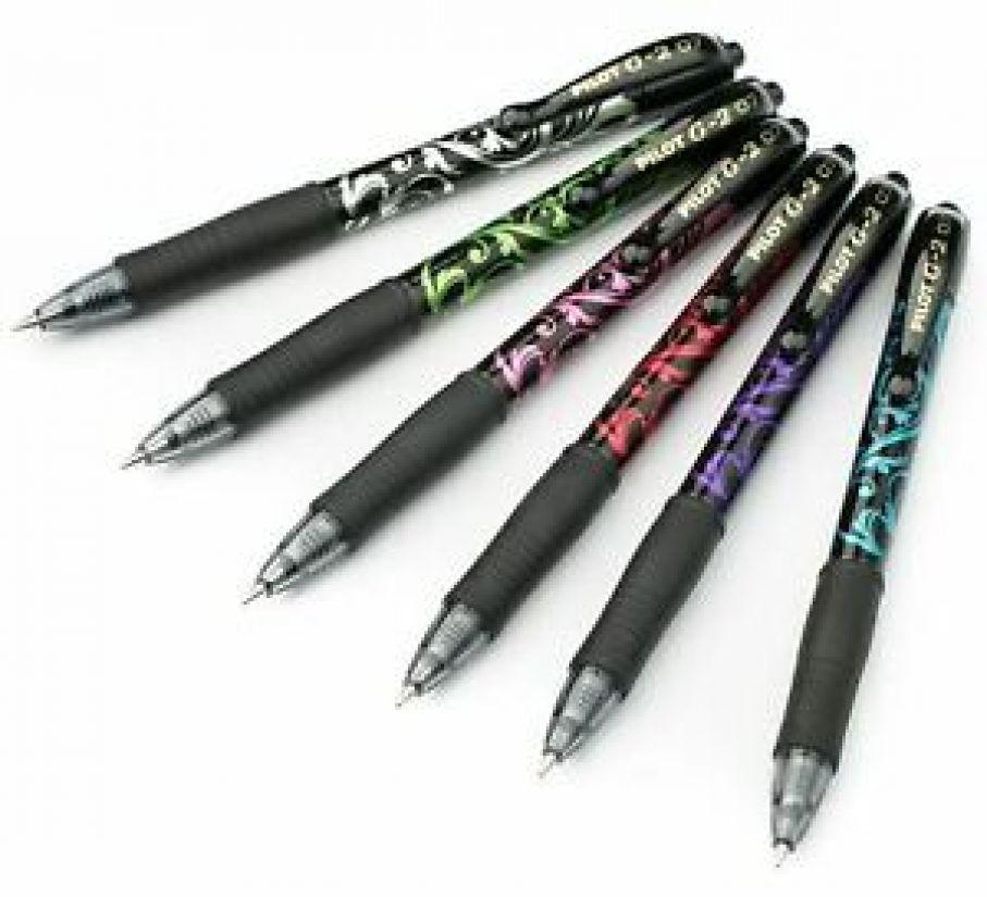 długopisy z tuszem żelowym