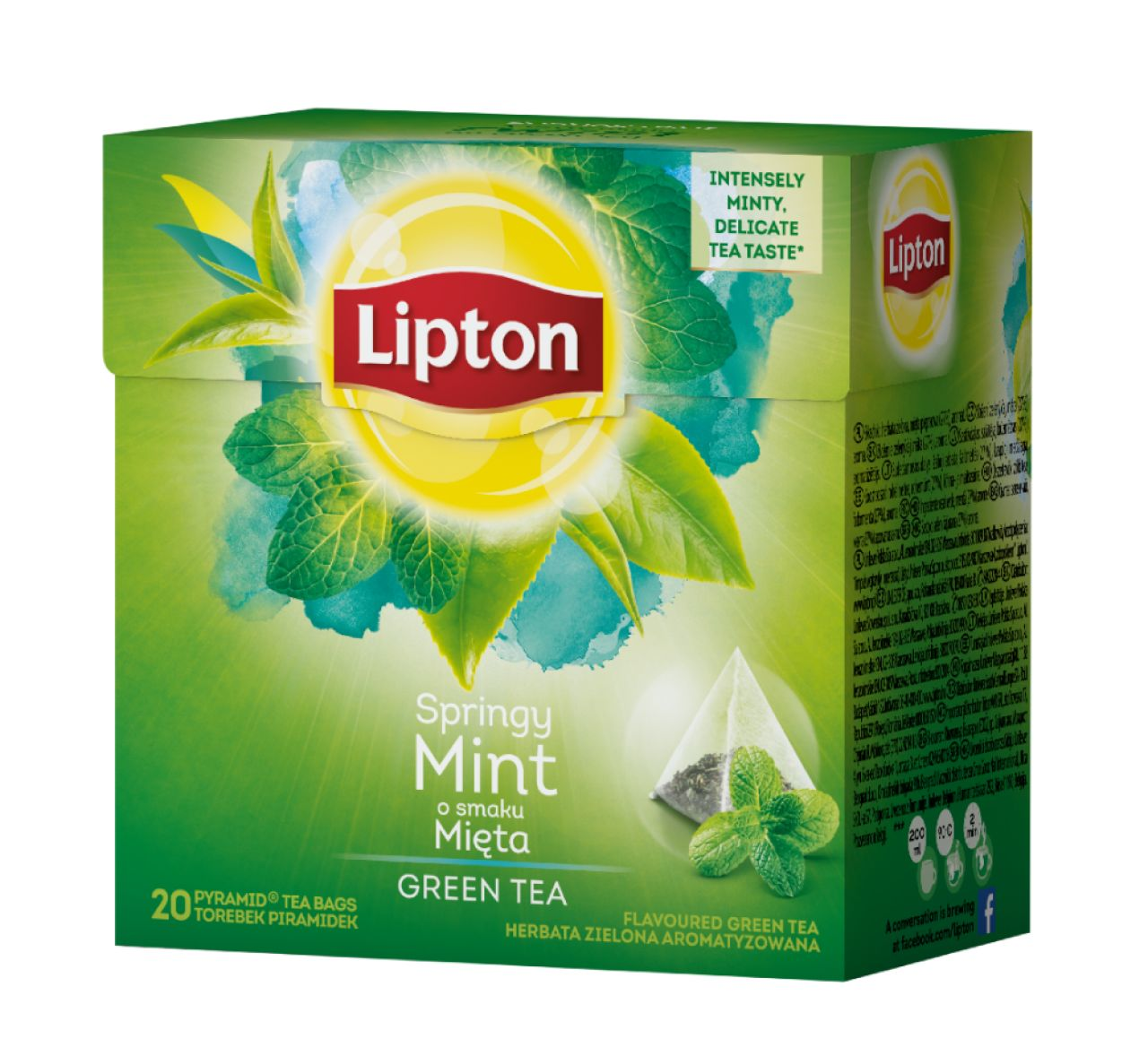 HERBATA LIPTON GREEN TEA INTENSE MINT PIRAMIDKI 20TB