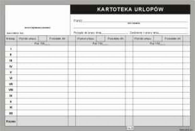 druki akcydensowe - formularze