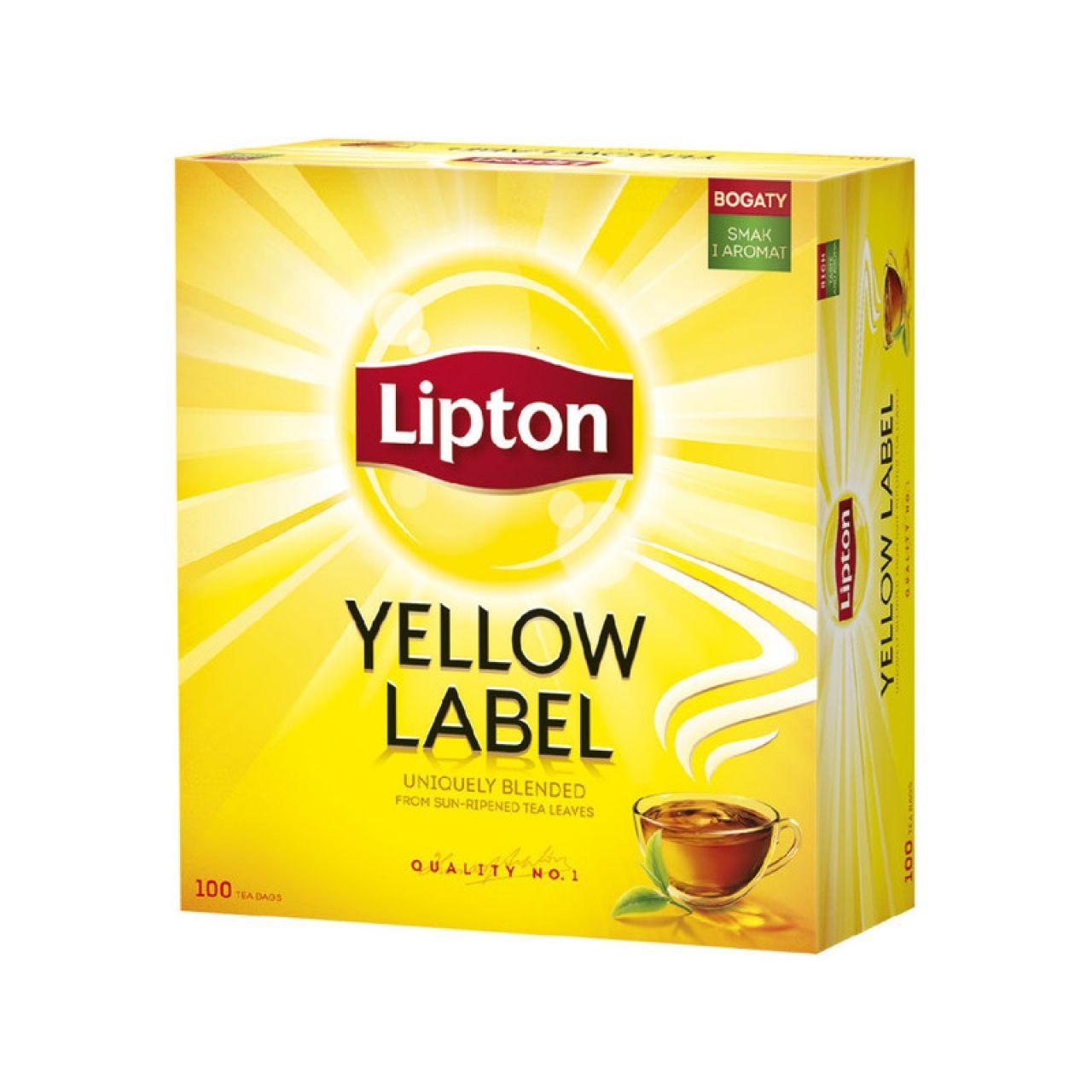 Herbata LIPTON YELLOW LABEL 100TB