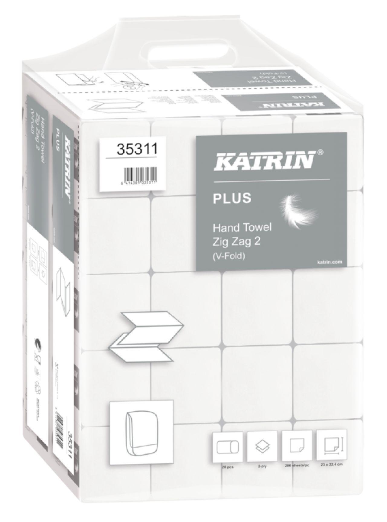 Ręcznik papierowy ZZ KATRIN PLUS biały Celuloza 2 warstwy 100645/35311 /4000/