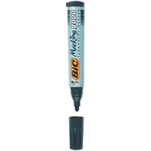 Marker permanentny BIC 2000 okrągła końcówka Czarny
