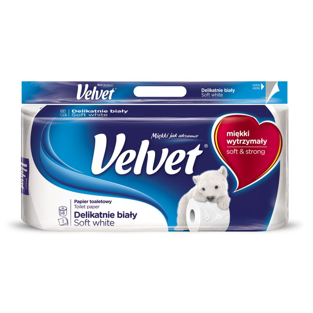 Papier toaletowy VELVET delikatnie biały (8)