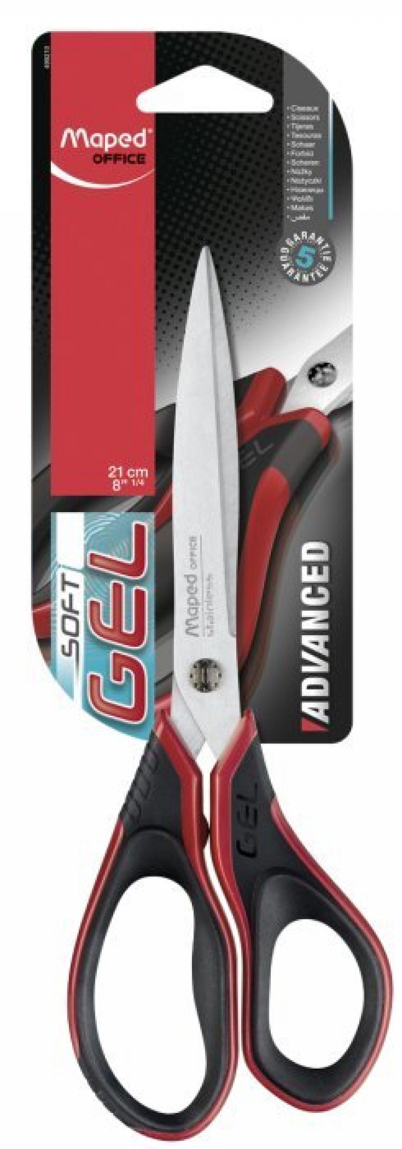 Nożyczki MAPED Advanced Gel ASYMETRYCZNE 21 cm